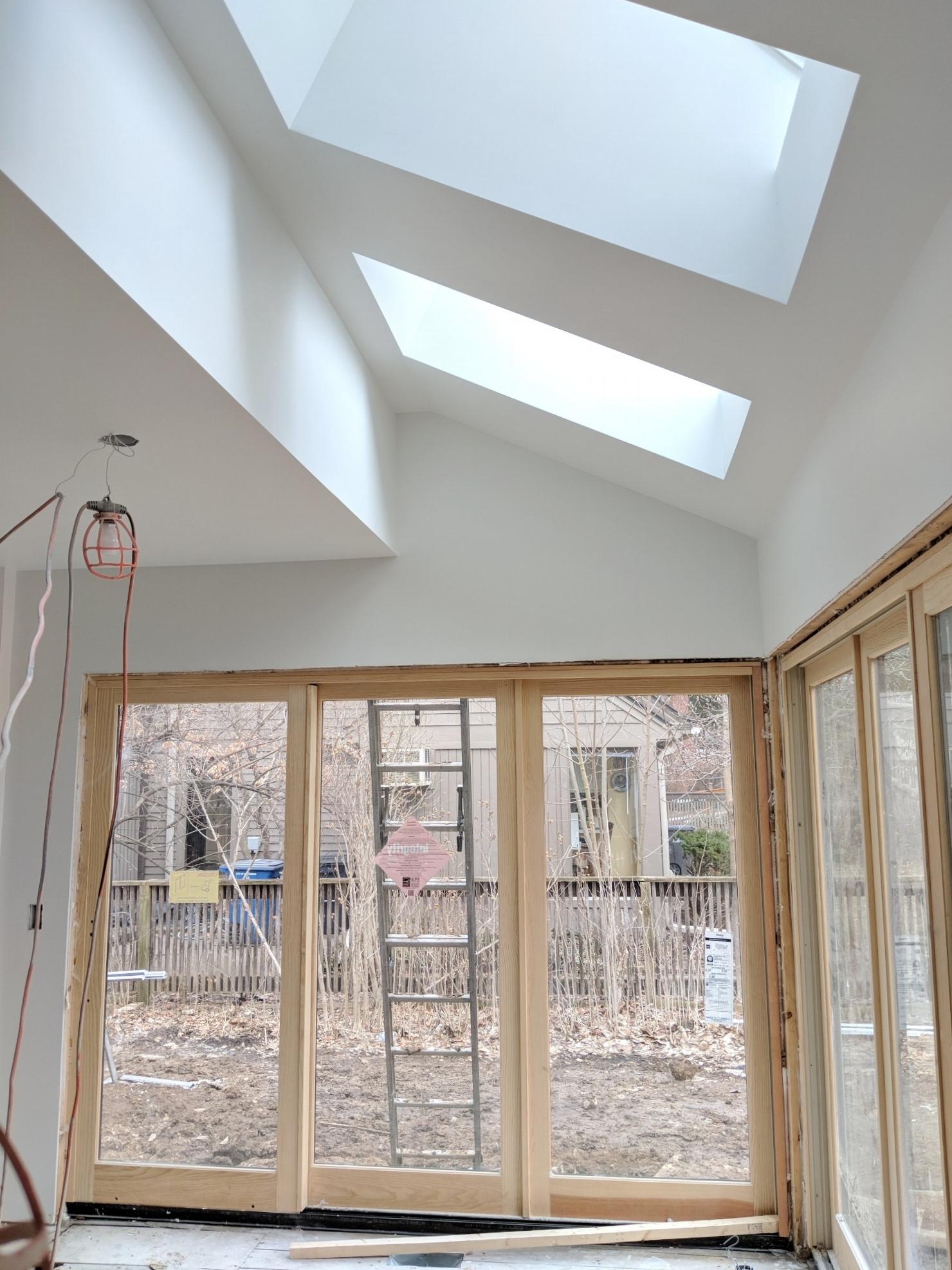 New skylights installed