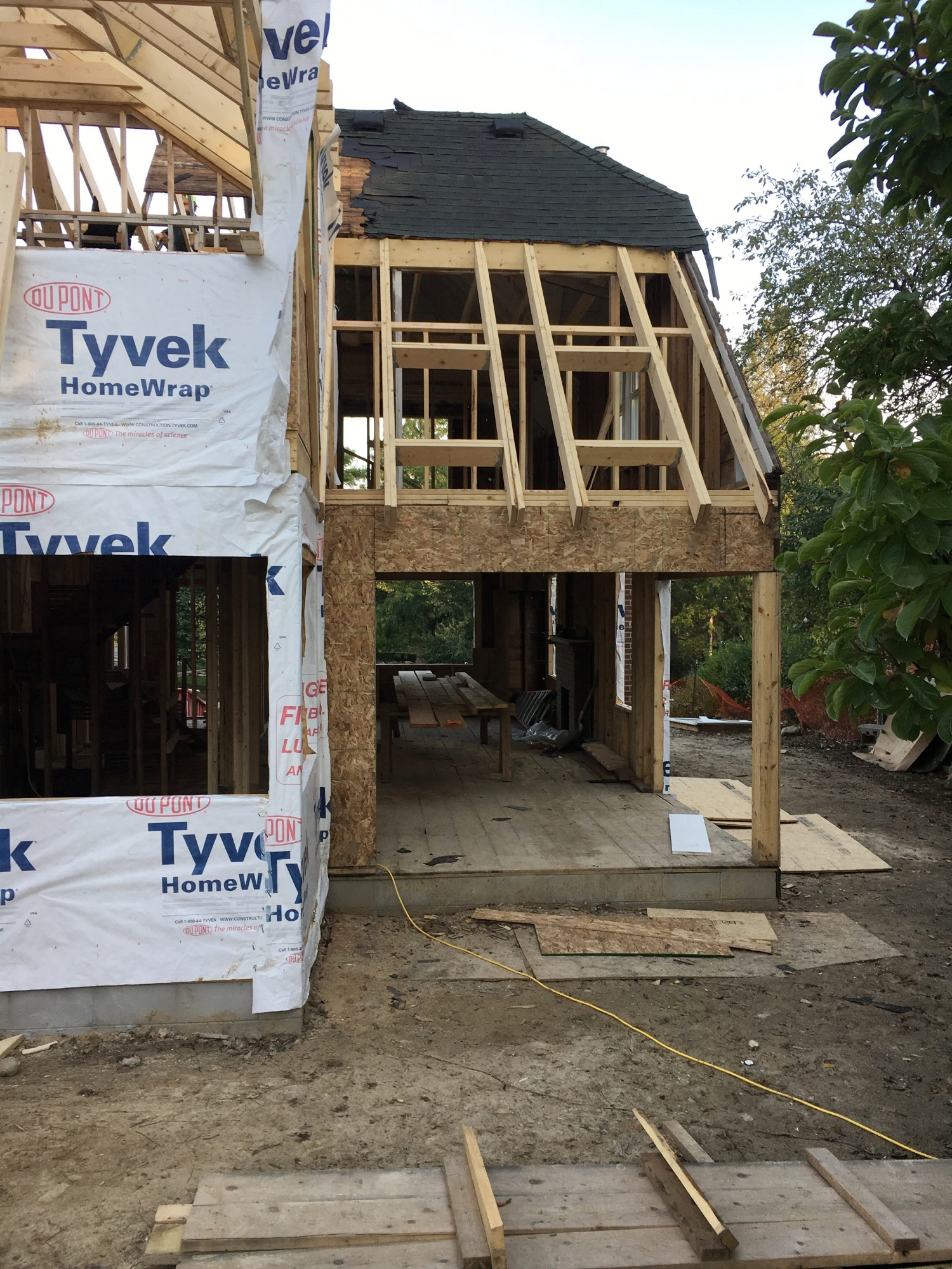 Framing the addition