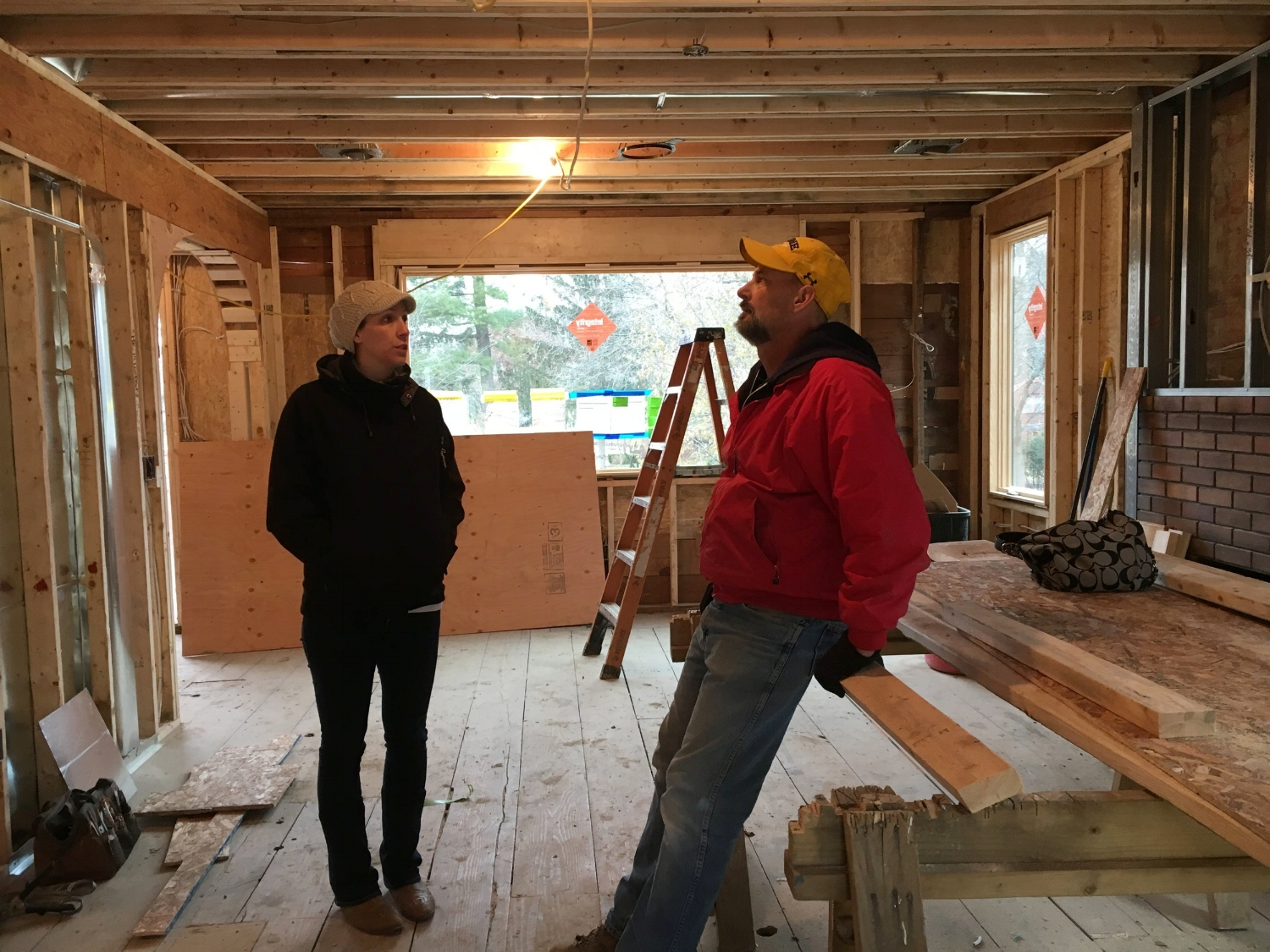 Project Designer Miranda and Project Manager Rob Walker