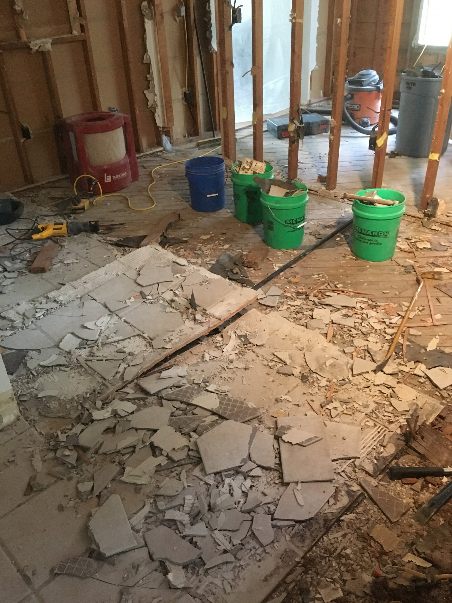 Dusty plaster removal