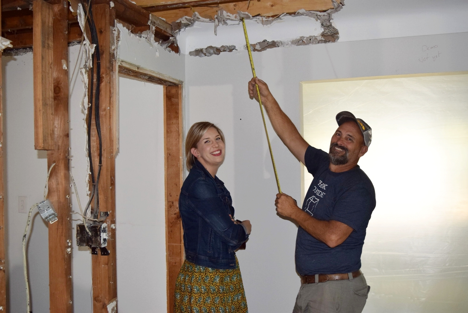 Project Designer Ann-Marie and Project Manager Rob Walker