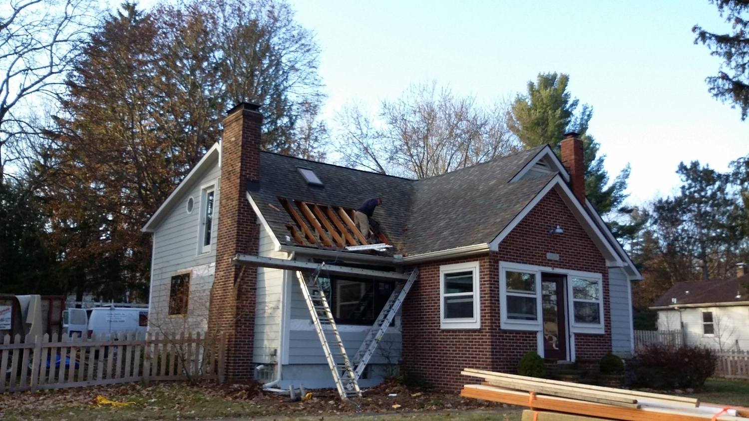 Framing the second floor addition