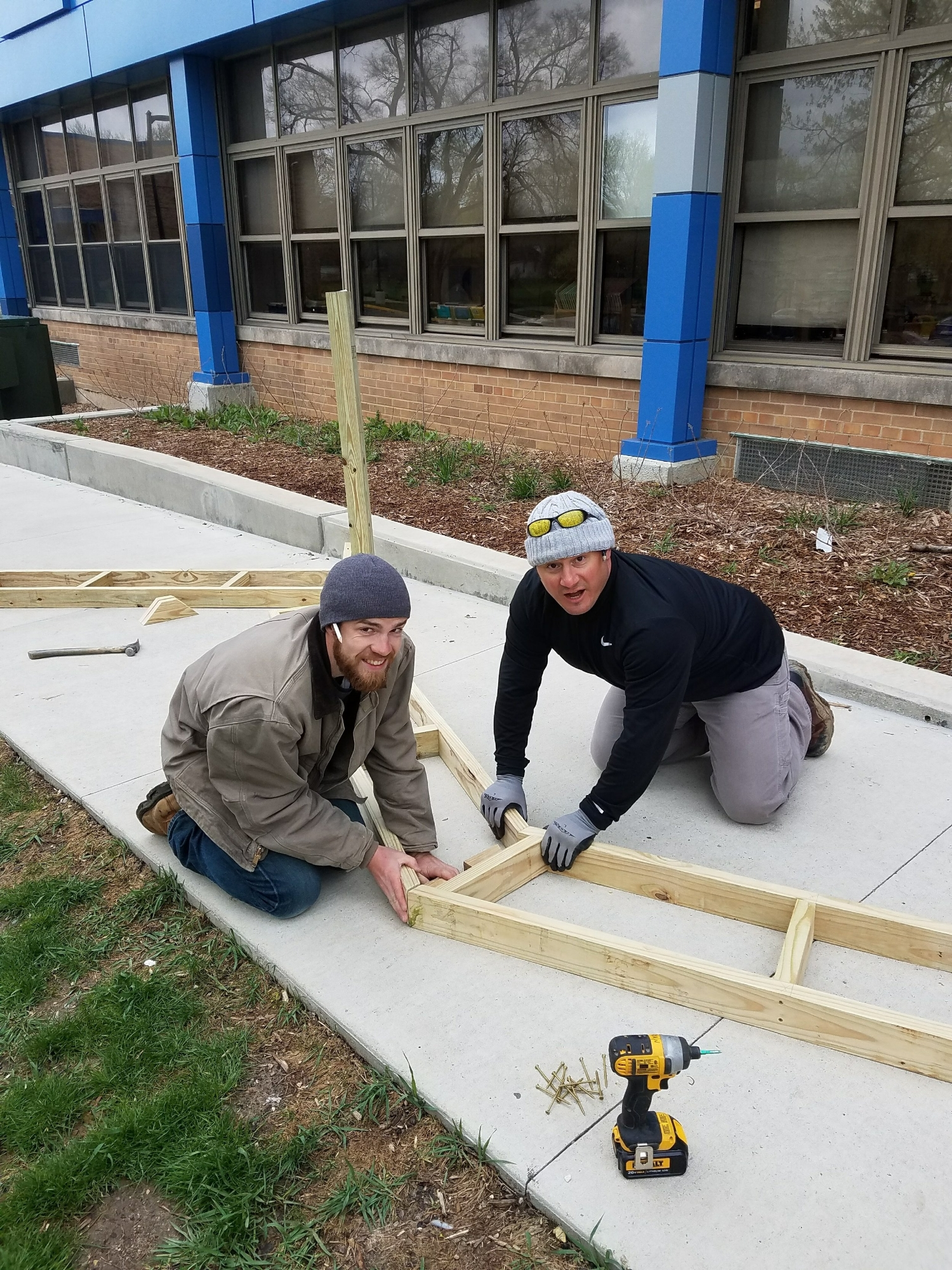 Carpenter Ryan Beaber and Project Manager Matt Nicholas