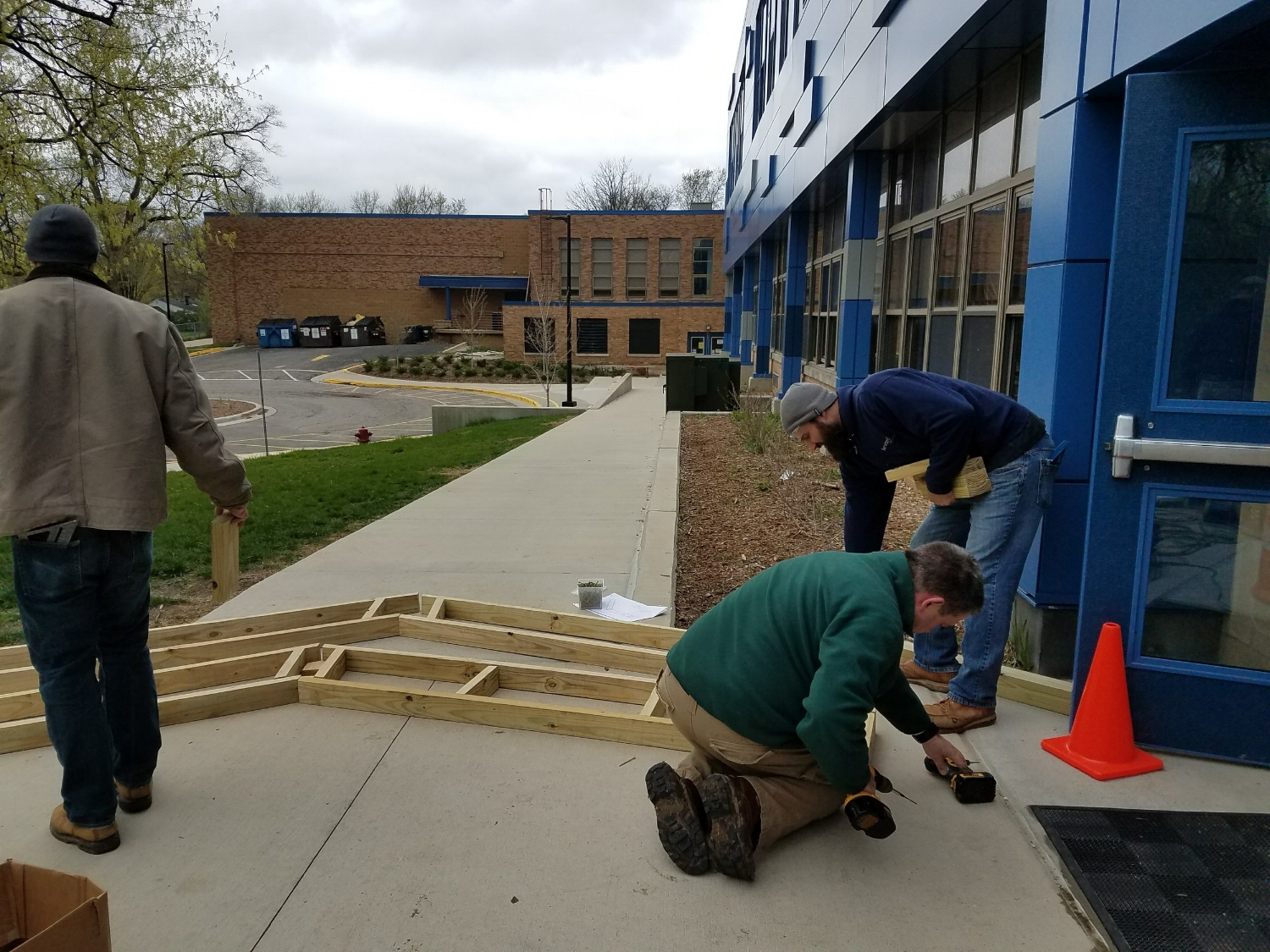 Building an outdoor classroom for Ann Arbor STEAM School.