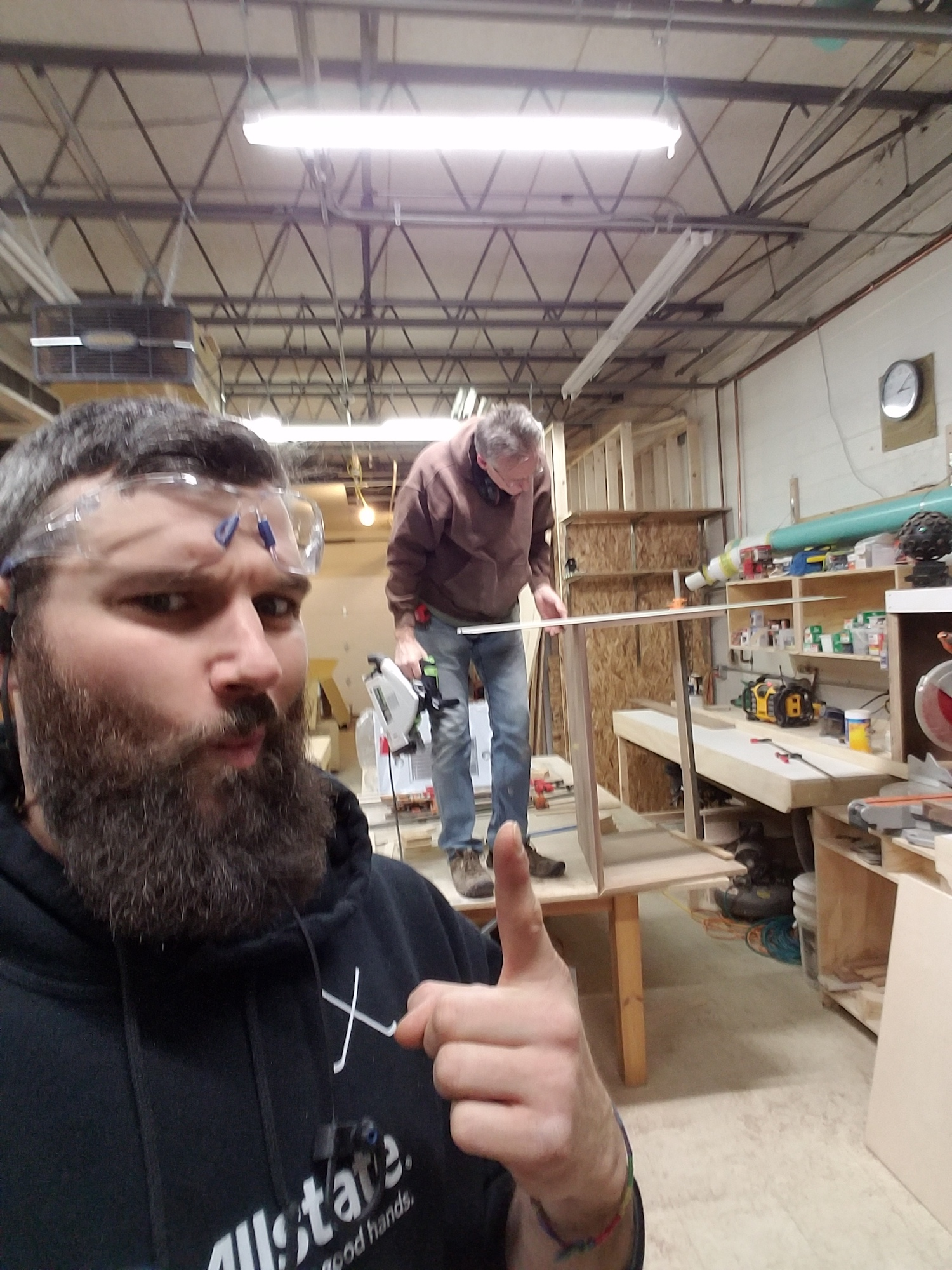 Carpenter Jon France and Production Manager Tim Whitford