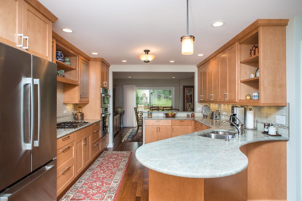 A newly remodeled kitchen, primary bath and master bathroom.