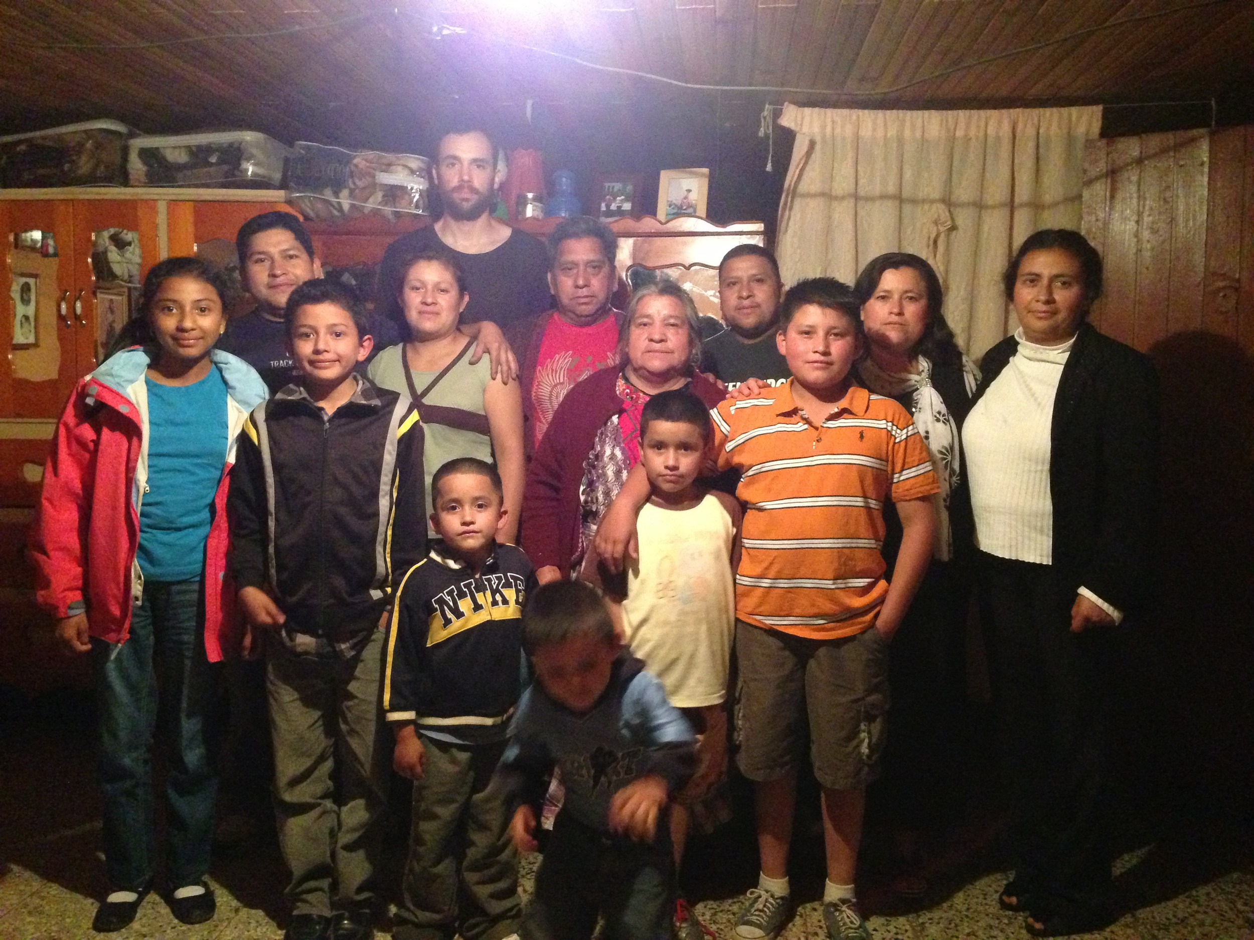 Astrid's family in Guatemala.