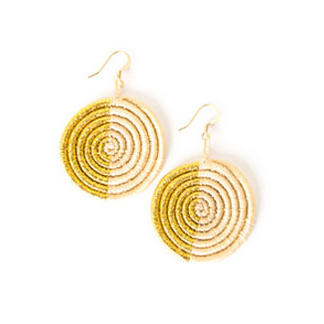 Across Africa | Natural Gold Woven Earrings $30
