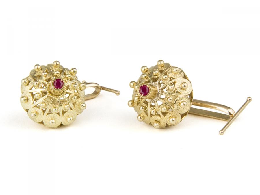 Fedele cufflinks with rubies