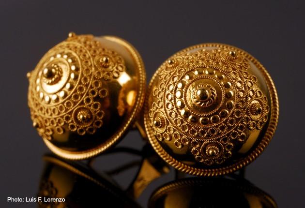 Turkish Button Earrings