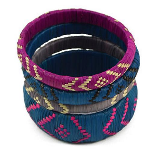 Across Africa - Iris Lara Bracelet (Set of 4) $40