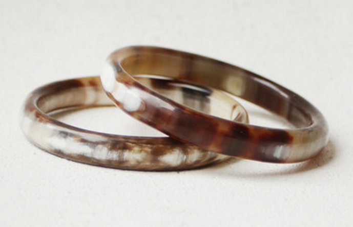 Indego Africa - Cowhorn Bangles (Set of 2) $75