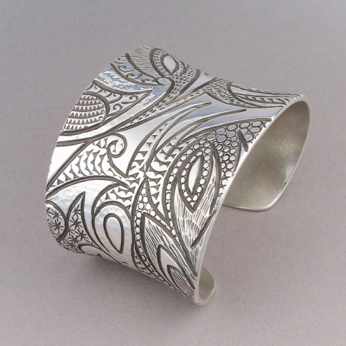 Jared Chavez - 'Collide' Wide Textured Bracelet $1750