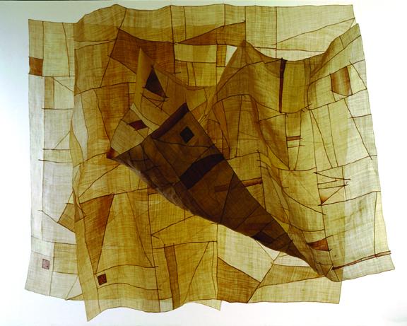 'Breeze' Hemp Patchwork, 6' x 6' by Chunghie Lee, 2000