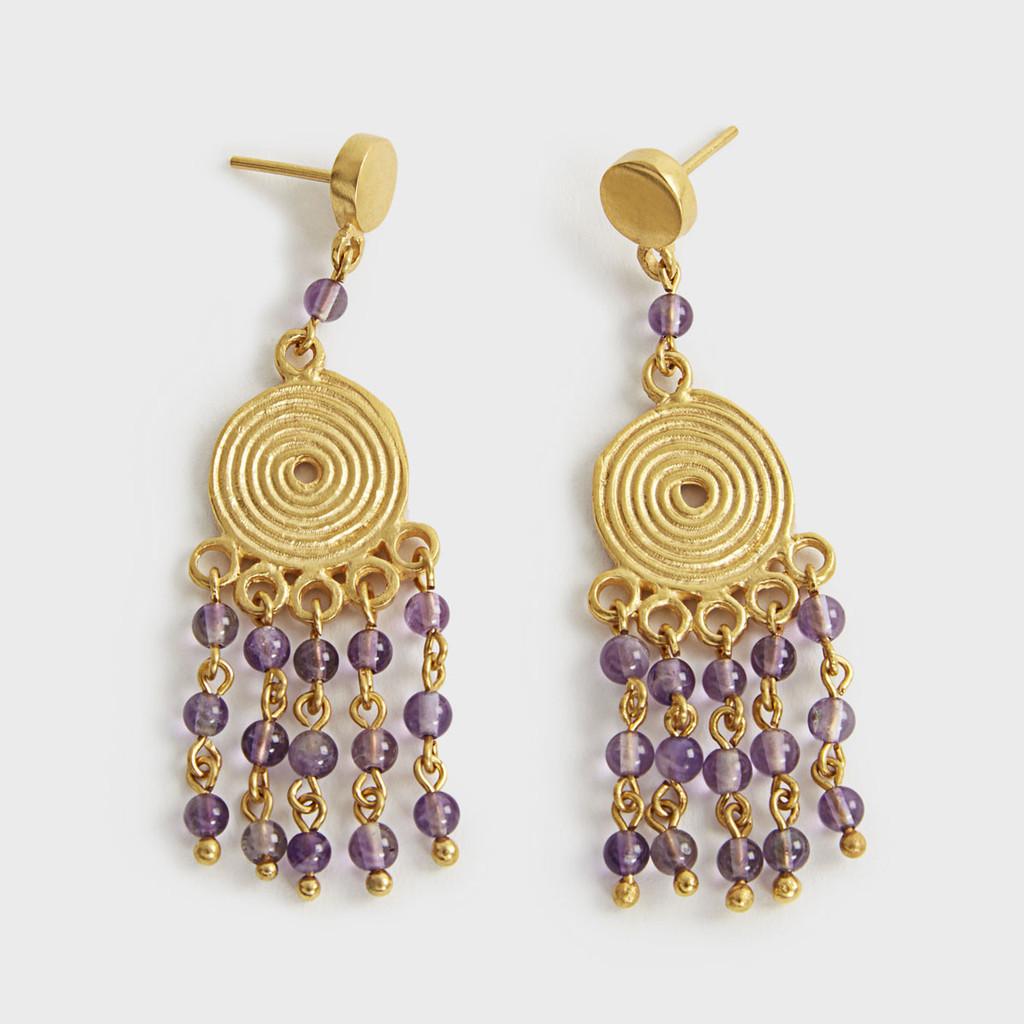 Lavender dangling earrings