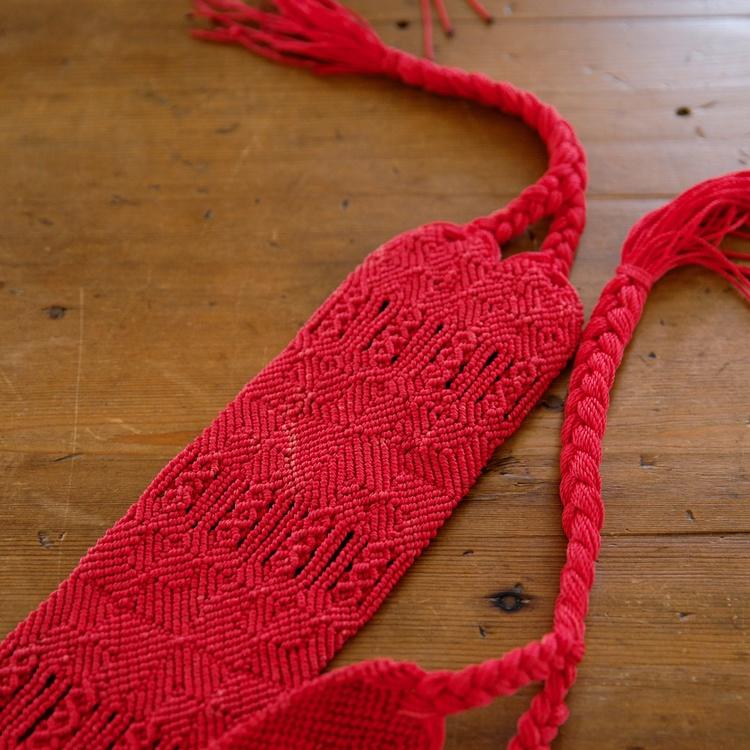 Red woven belt