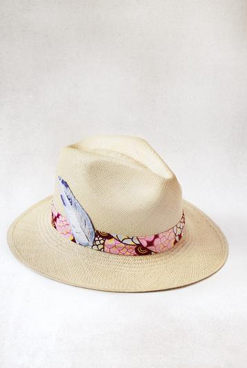 Pink Band Panama Hat - Primal x IA, Ecuador/Rwanda