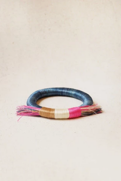 Sweetgrass Fringe Bangle, Rwanda