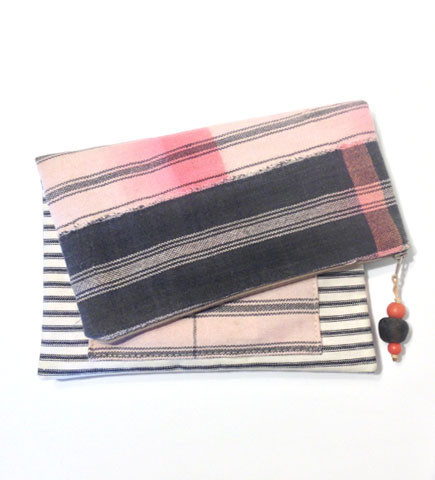 Signature Foldover Clutch in Pink, Africa