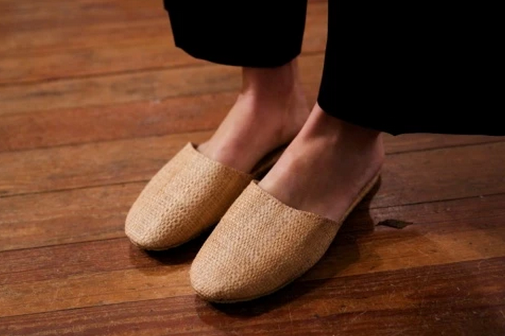 Natural Raffia Slipper, Cameroon
