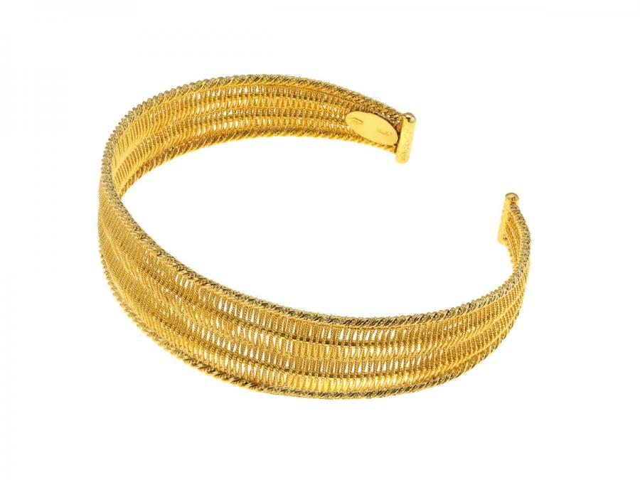 Gold Tessuto Bracelet, Italy