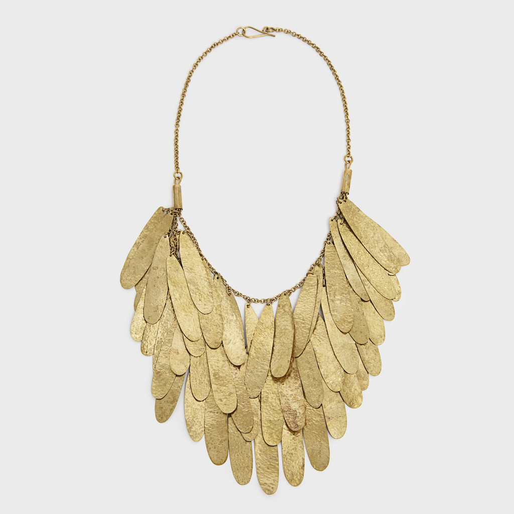 Nama Teardrop Fringe Necklace, Kenya