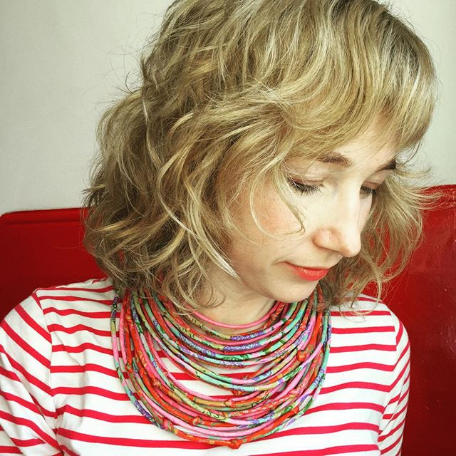 Sari string necklace
