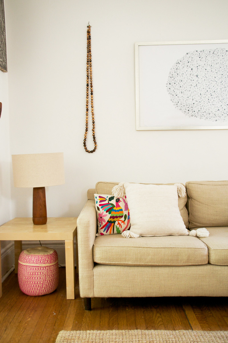 Mexican Wool Throw Pillow and Otomi Pillow