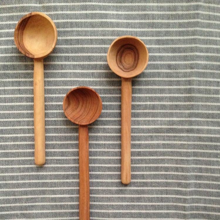 Wild Olive Wood Coffee Spoons