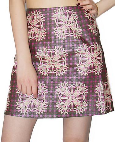 Celtic Thistle A-line Skirt
