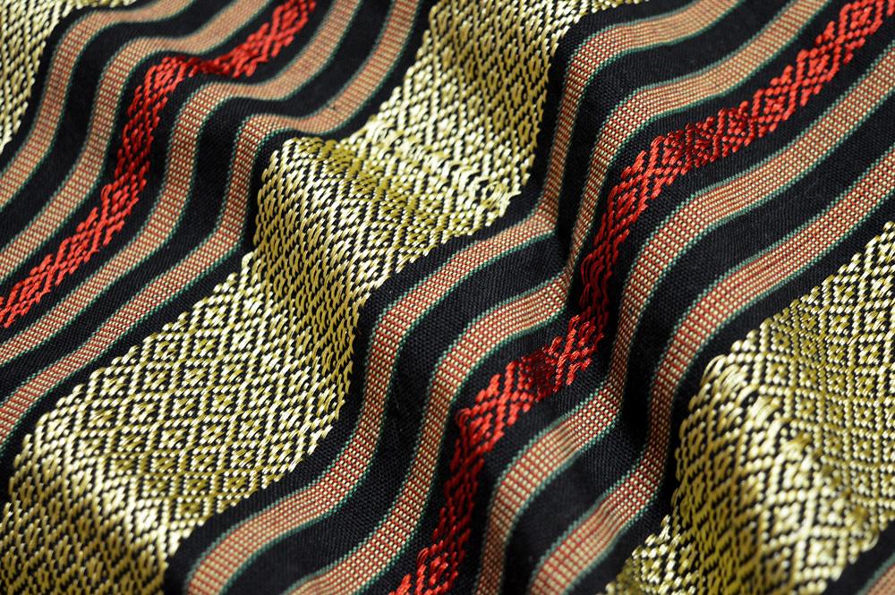 Gold, Red & Black Cham Cotton