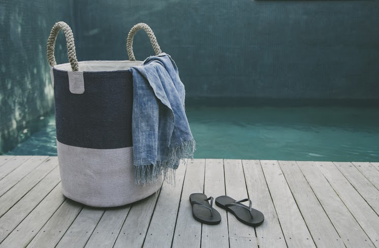 Pacific Two-Tone Laundry Basket