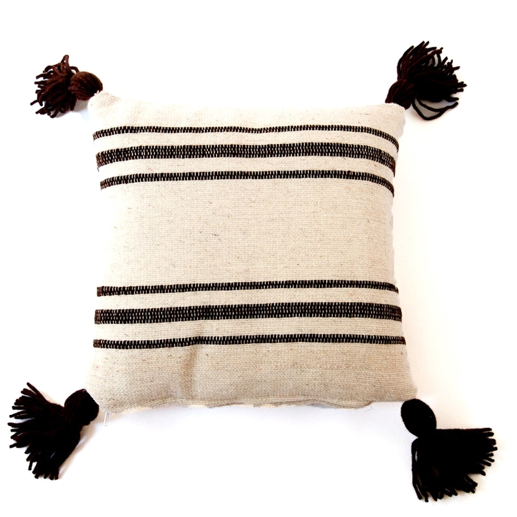 Mexican Wool Throw Pillow