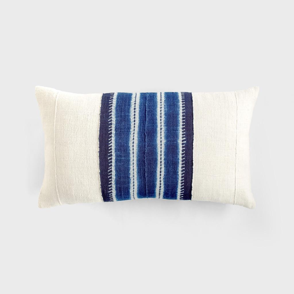 Stitch Resist Lumbar Pillow by Aboubakar Fofana