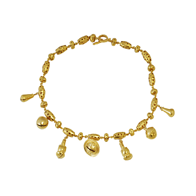 Gold plated bell necklace