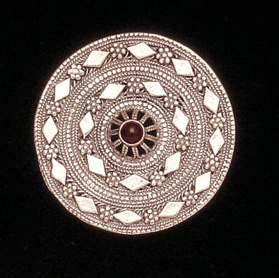 Ben-Zion David Yemenite silver filigree handmade ethnic pin pendant jewelry