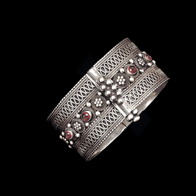 Ben-Zion David Yemenite handmade silver filigree bracelet cuff jewelry