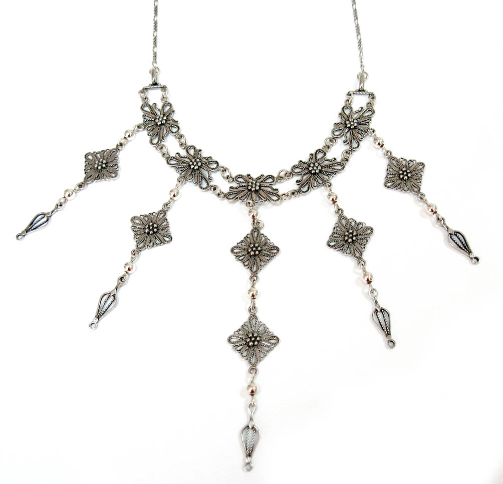 Ben-Zion David Yemenite silver filigree necklace