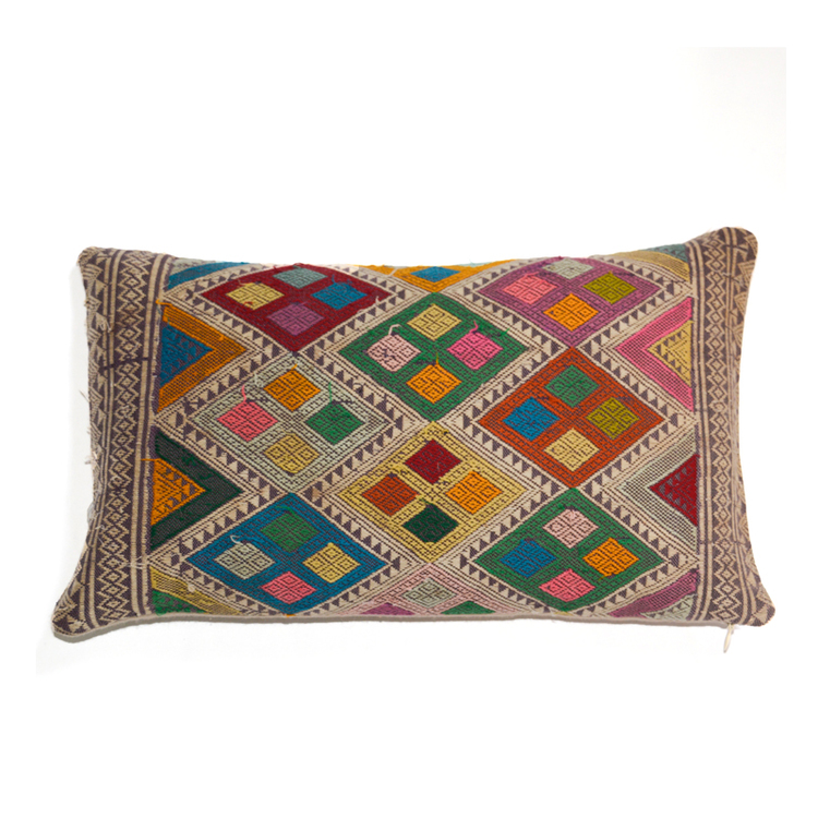 Vintage Lao-Thai Throw Pillow