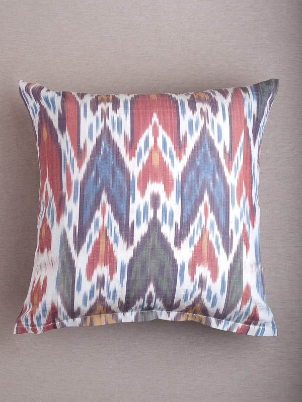 Multi Ikat Arrow Pillow