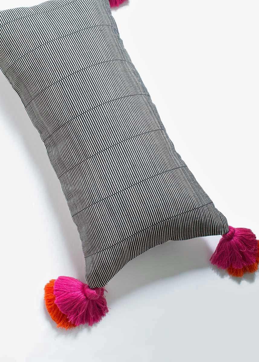 Pom Pom Lumbar Pillow