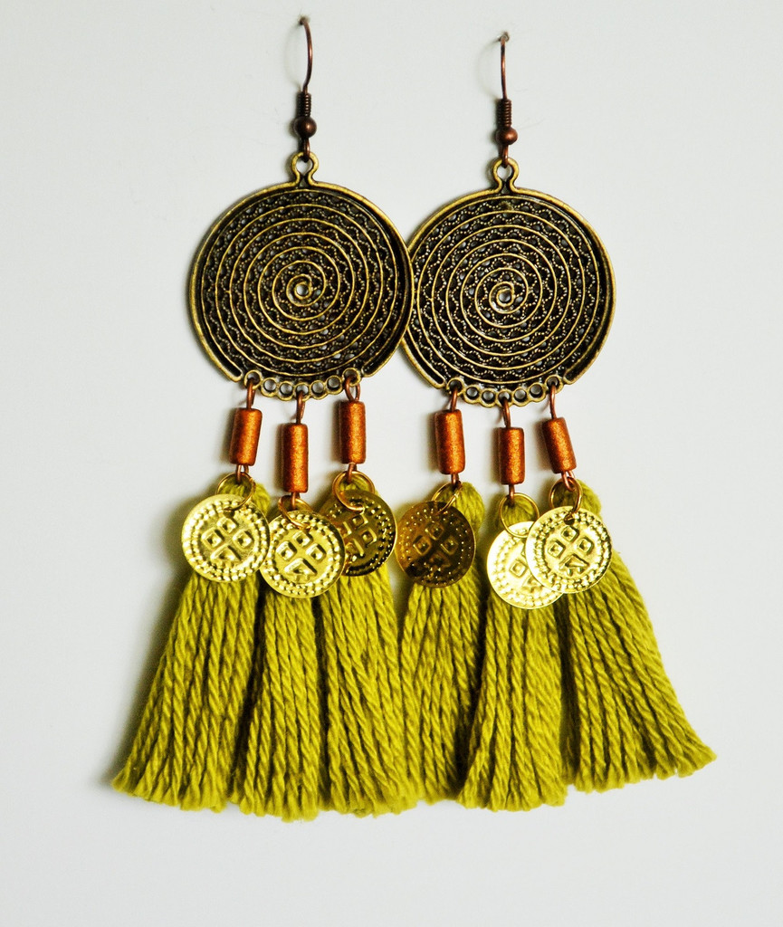 Marrakech Tri Tassel Earrings