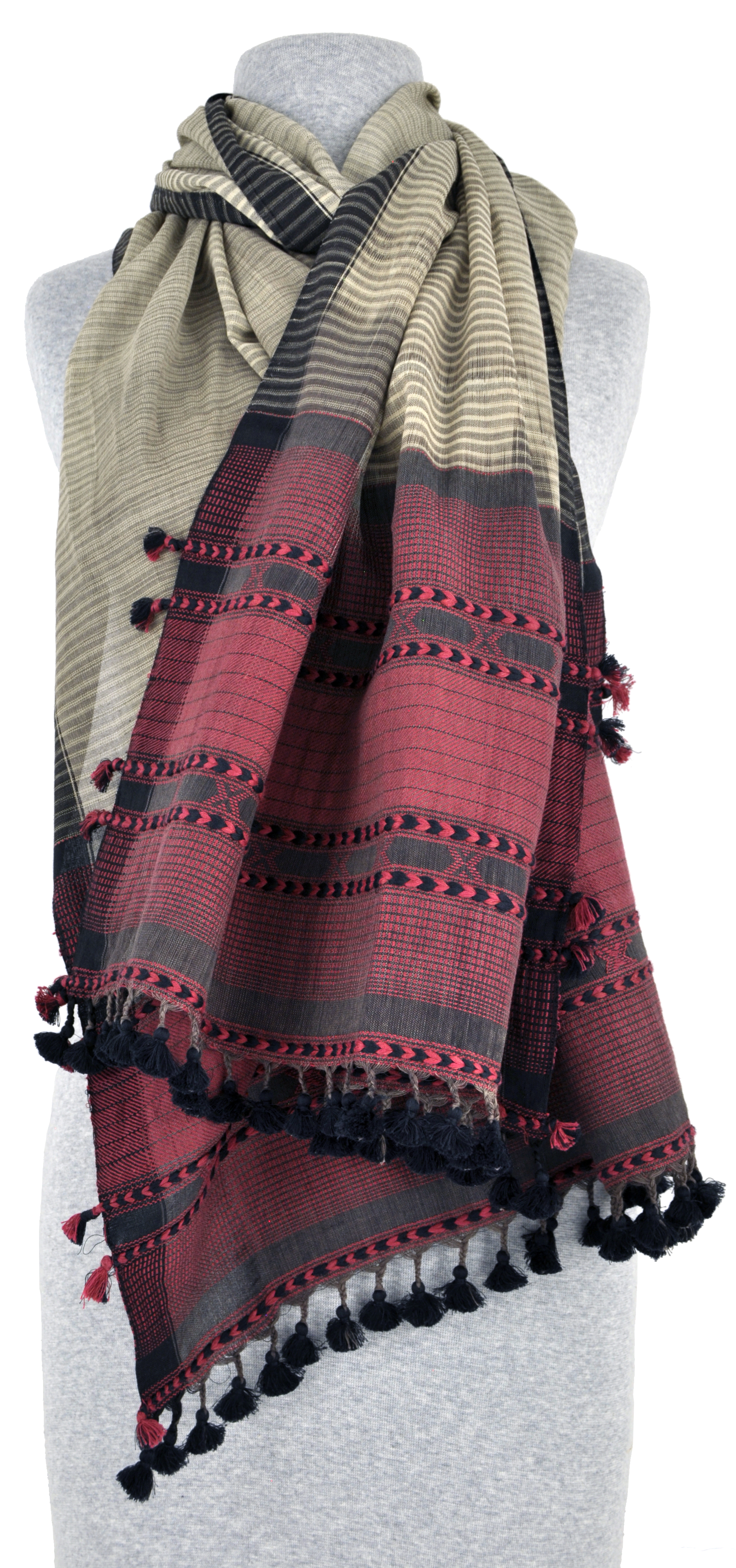 Charcoal and Rose Kutch Wrap