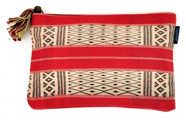 myanmar banded handwoven clutch.png