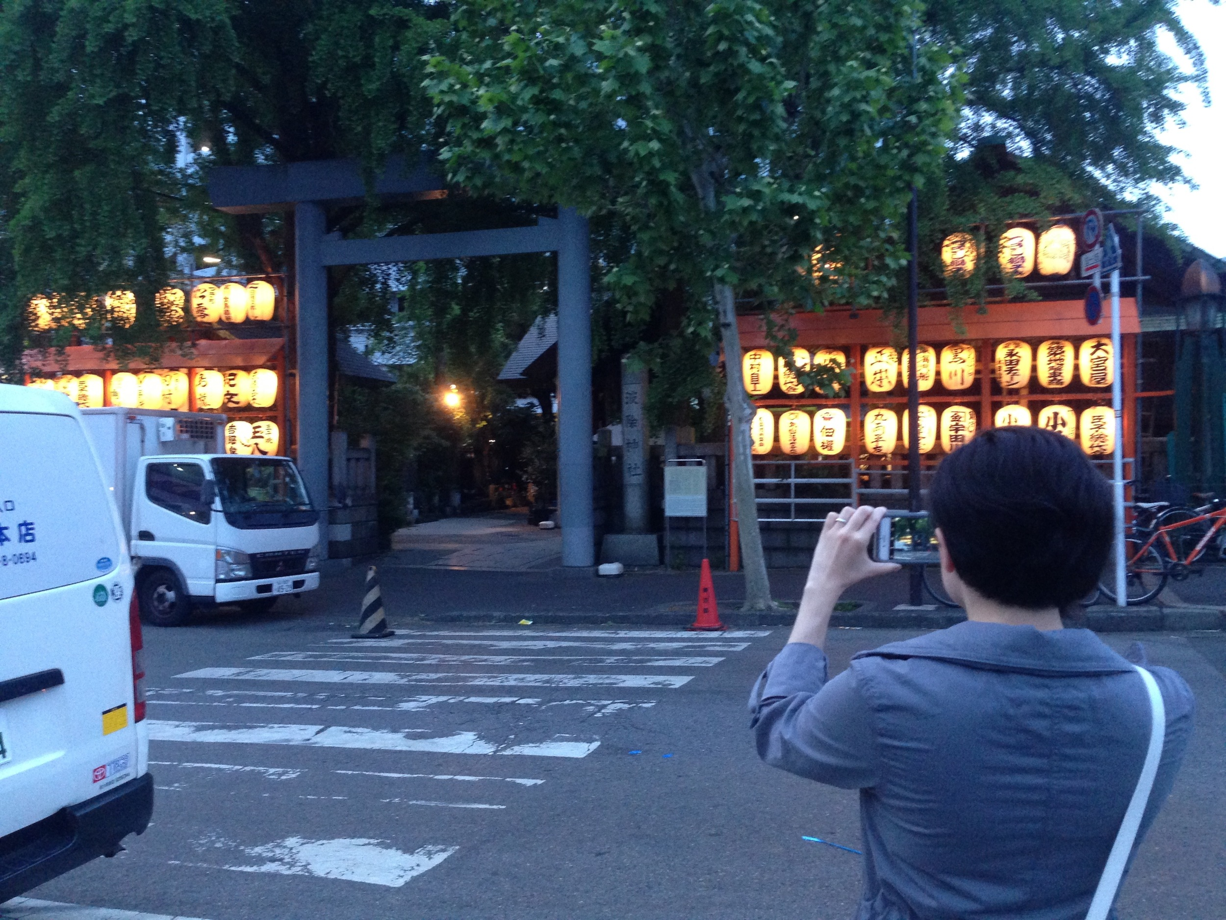 Just outside the Tsukiji Market at a shrine. It's about 4:30am and the sun is still asleep.