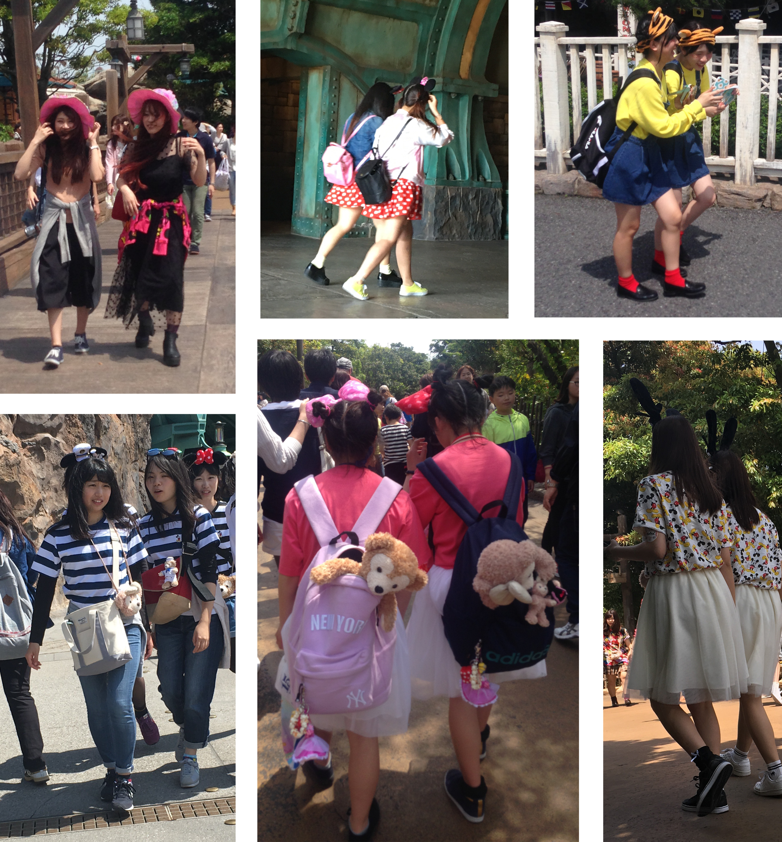 Many of the groups we saw with matching outfits.