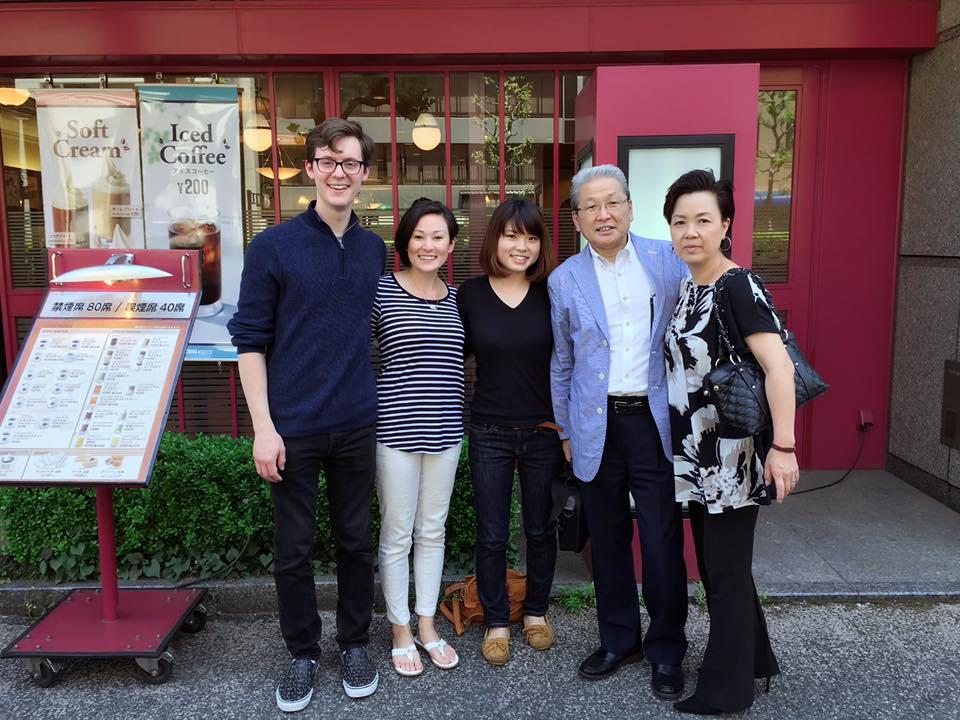 Michael, Me, Yoriko, Mitsuru, Emiko