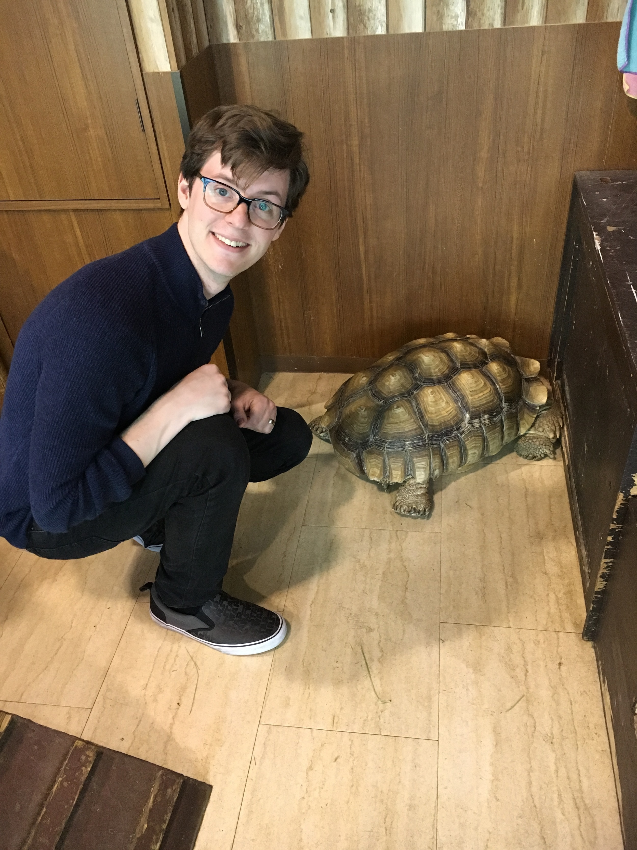 Michael and the tortoise.