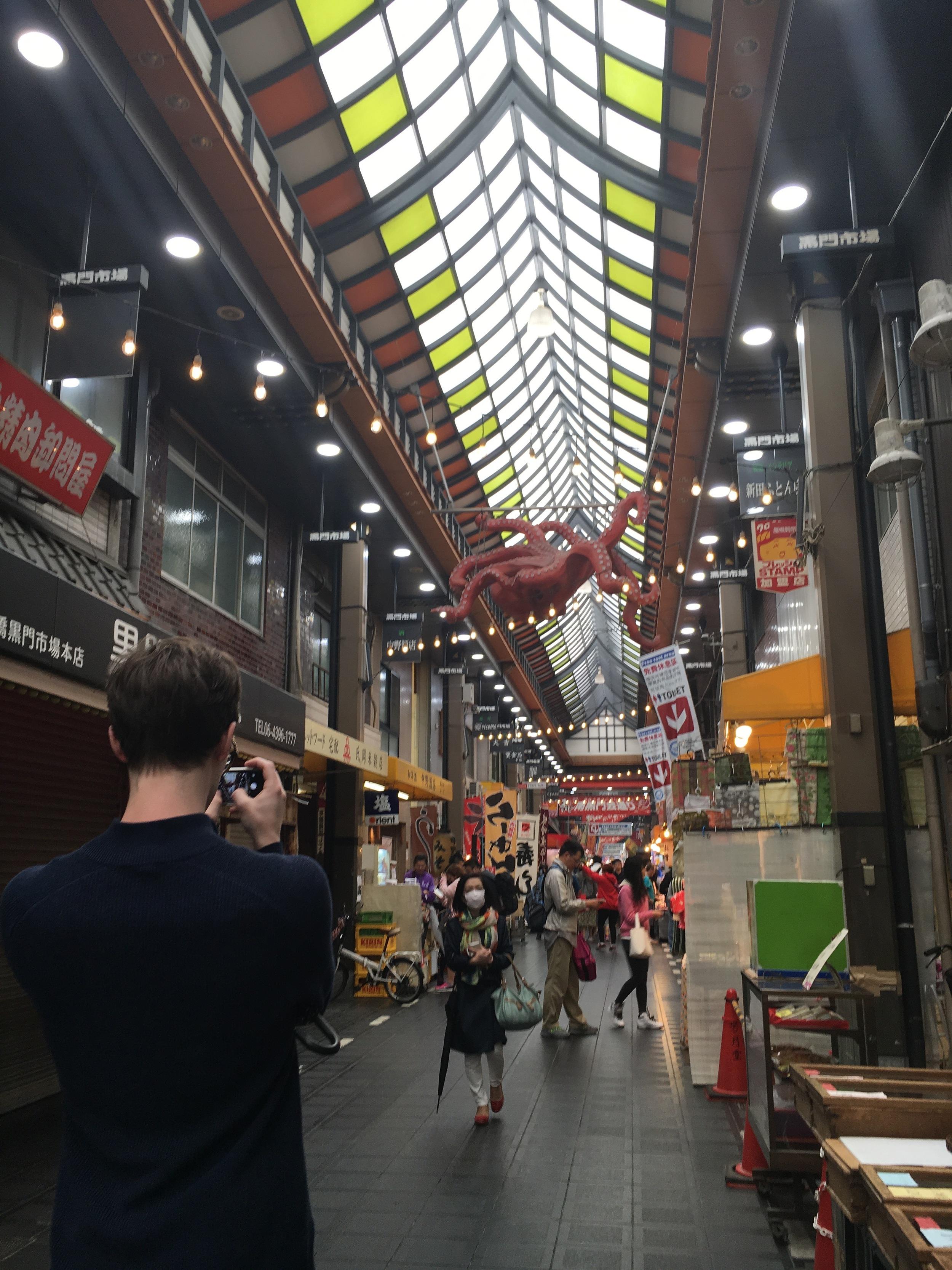 Inside the Kuromon Market.