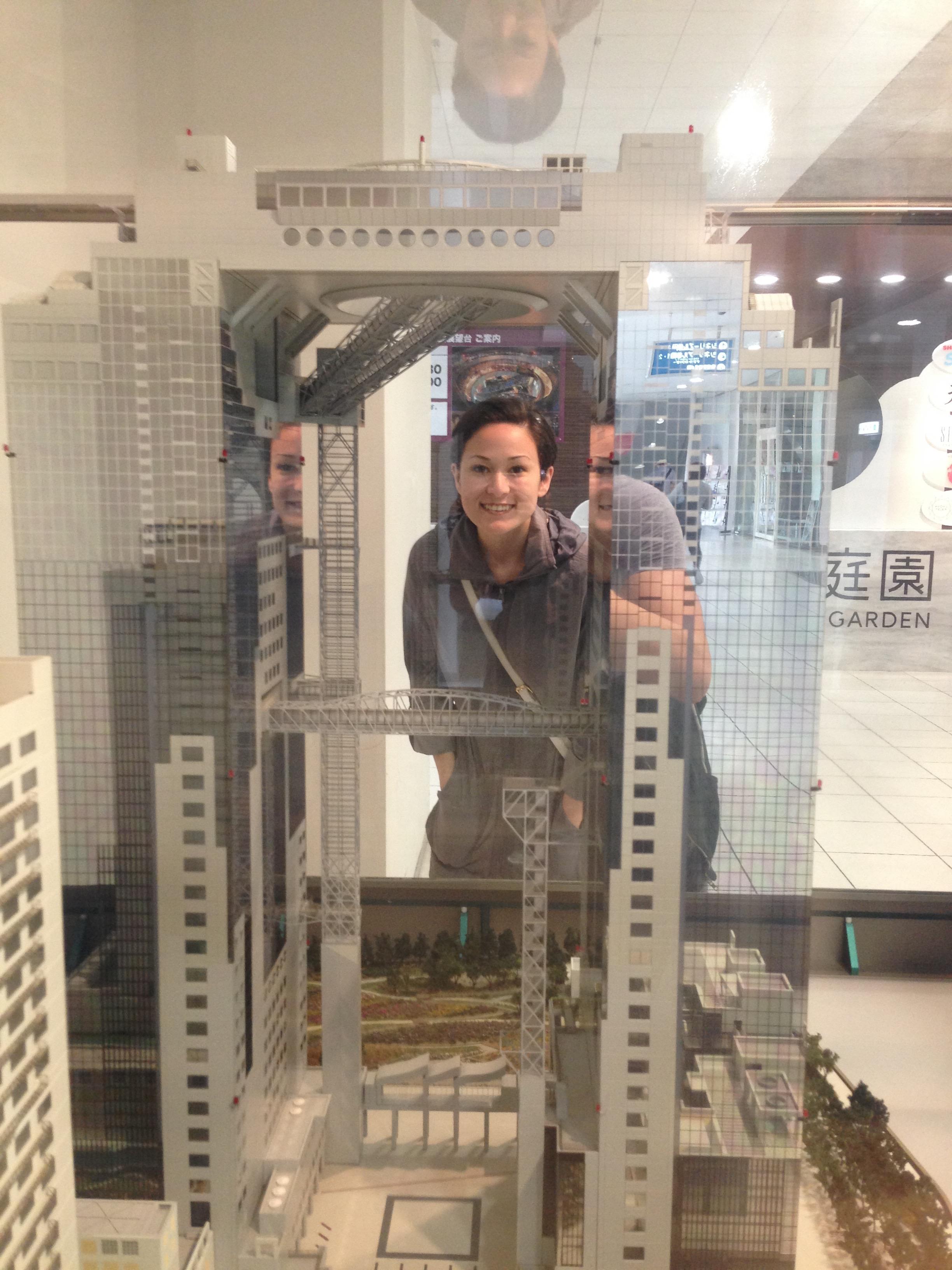 The Umeda Sky Building model.